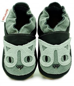 Soft Sole Baby Shoes GREY CAT