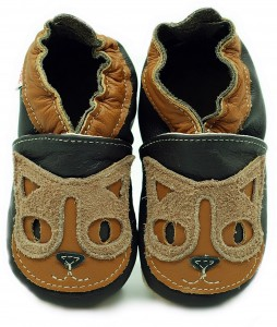Soft Sole Baby Shoes CHOCO CAT