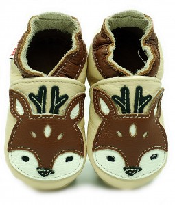 Soft Sole Baby Shoes FAWN ON CREAM