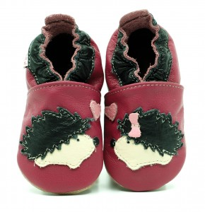Soft Sole Baby Shoes OH HEDGEHOG! ON PINK