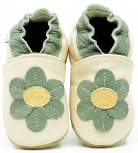 Soft Sole Baby Shoes DAISY ON CREAM