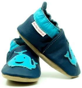 Soft Sole Baby Shoes BLUE WHALE