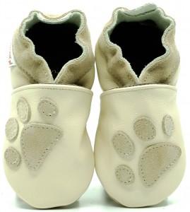 Soft Sole Baby Shoes PAWS ON CREAM