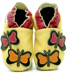 Soft Sole Baby Shoes BUTTERFLIES