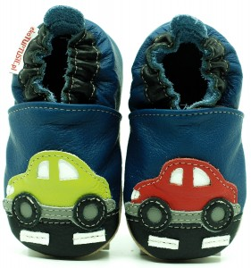 Soft Sole Baby Shoes CARS ON THE ROAD