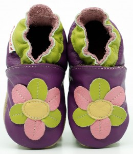 Soft Sole Baby Shoes DAISY ON VIOLET