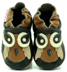 Soft Sole Baby Shoes BROWN OWL