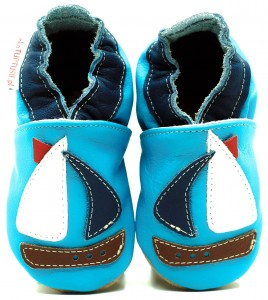Soft Sole Baby Shoes SAILBOAT
