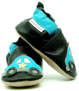 Soft Sole Baby Shoes POLICE ON BLACK