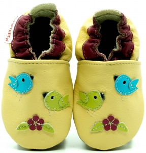 Soft Sole Baby Shoes FLYING BIRDS