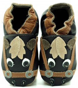 Soft Sole Baby Shoes BROWN PONY