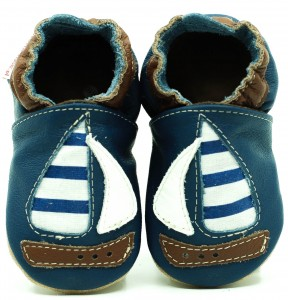 Soft Sole Baby Shoes SAILBOAT WITH COTTON INSERT