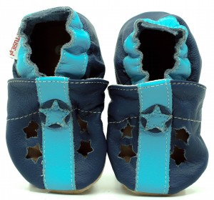 Soft Sole Baby Shoes SANDALS BLUE STARS