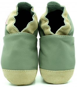 Soft Sole Baby Shoes NOSES GREY