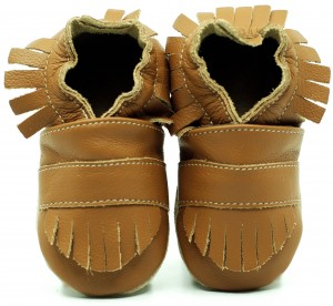 Soft Sole Baby Shoes BOHO LIGHT BROWN