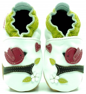 Soft Sole Baby Shoes LOVELY BIRDS