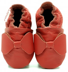 Soft Sole Baby Shoes RED BOW