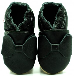 Soft Sole Baby Shoes BLACK BOW