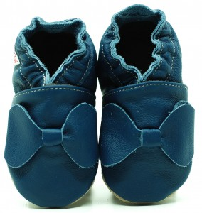 Soft Sole Baby Shoes NAVY BLUE BOW