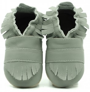 Soft Sole Baby Shoes BOHO GREY
