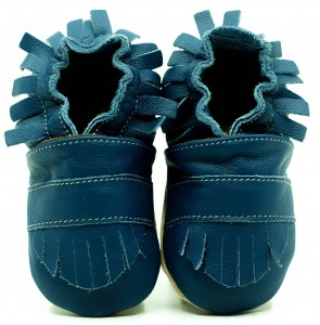 Soft Sole Baby Shoes BOHO NAVY BLUE