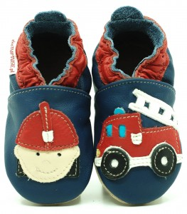Soft Sole Baby Shoes FIREMAN