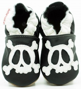 Soft Sole Baby Shoes PIRATE SKULL