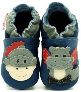 Soft Sole Baby Shoes KNIGHT AND DRAGON