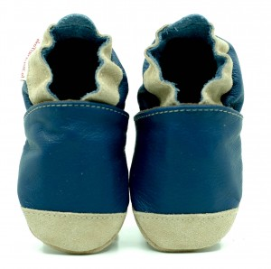 Soft Sole Baby Shoes NOSES NAVY BLUE
