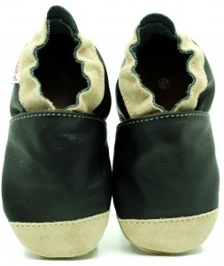 Soft Sole Baby Shoes NOSES BLACK