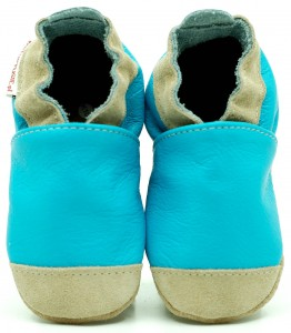 Soft Sole Baby Shoes NOSES BLUE