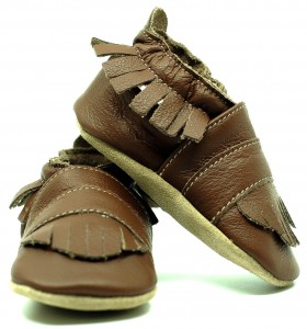 Soft Sole Baby Shoes MIDDLE BROWN BOHO