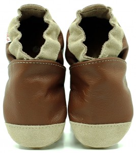 Soft Sole Baby Shoes NOSES BROWN