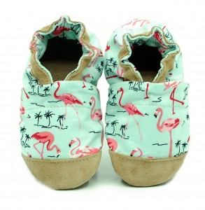 Soft sole ekoTuptusie COTTON flamingos