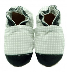 Soft sole ekoTuptusie COTTON grey check