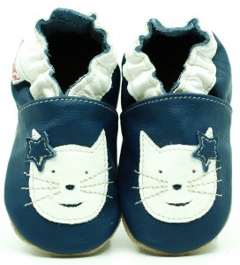 Soft Sole ADULT Shoes CATS ON NAVY BLUE