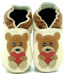 Soft Sole ADULT Shoes BEAR WITH HEART