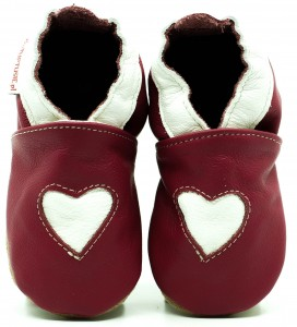 Soft Sole ADULT Shoes HEART ON PINK