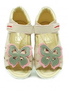 ekoTuptusie Shoes grey with pink butterfly