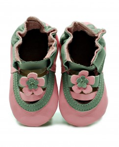 Soft Sole Baby Shoes pink sandals (1)