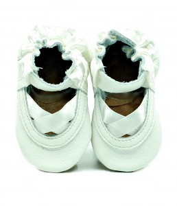 Soft Sole Baby Shoes white ballet sandals