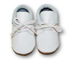 Soft Sole Baby Shoes Moccasin White