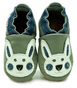 Soft Sole Baby Shoes NAVY BLUE RABBIT