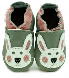 Soft Sole Baby Shoes PINK RABBIT