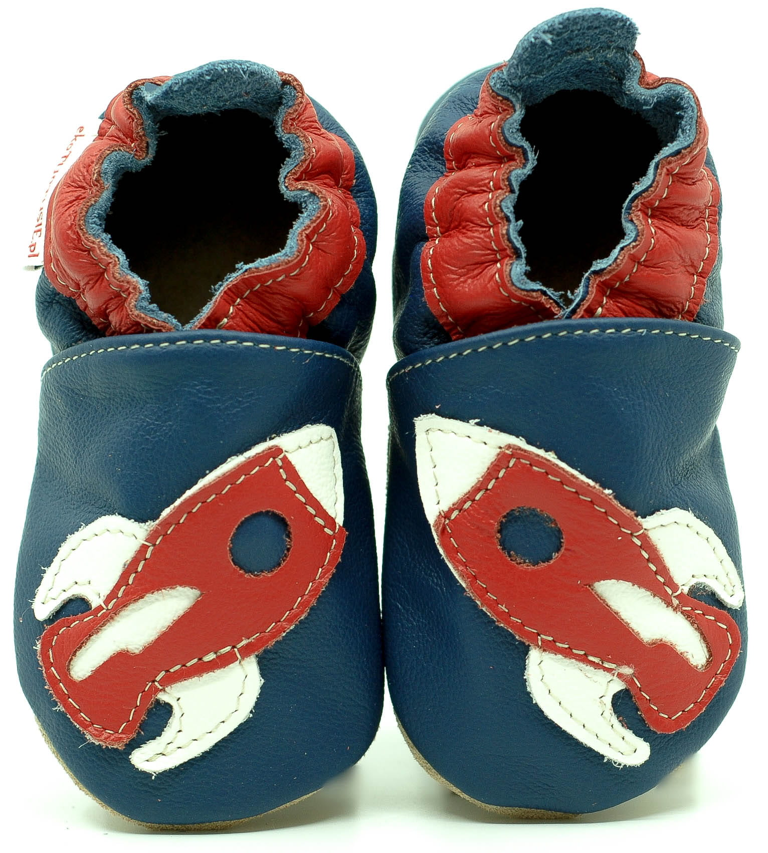 348e8165830 Soft Sole Baby Shoes RED ROCKET ON NAVY BLUE FIORINO Mother & Child ...